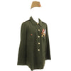 show larger image of product view 6 : Original Soviet Cold War Infantry Officer Uniform Parade Jacket with Medals and Cap Original Items