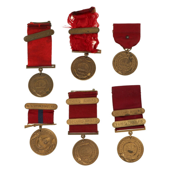 Original U.S. WWI - WWII Collection of Named Navy Good Conduct Medals Original Items