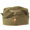 show larger image of product view 2 : Original German WWII Unissued DAK Afrikakorps EM-NCO M38 Overseas Cap with RBNr. - Size 55 Original Items