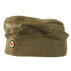 show larger image of product view 1 : Original German WWII Unissued DAK Afrikakorps EM-NCO M38 Overseas Cap with RBNr. - Size 55 Original Items