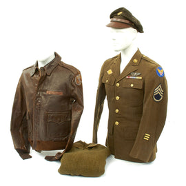Original U.S. WWII 20th Air Force Named Aerial Gunner Grouping with A-2 Jacket