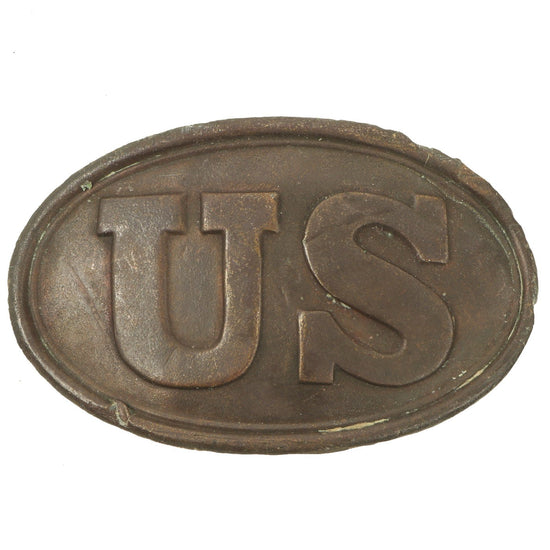 "Original U.S. Civil War Federal Early Regulation 1839 Pattern Brass ""Puppy Paw"" Belt Buckle Original Items"
