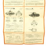 show larger image of product view 12 : Original German WWII Tank and Armored Vehicle Identification Charts - Soviet, American, British Original Items