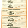 show larger image of product view 21 : Original German WWII Tank and Armored Vehicle Identification Charts - Soviet, American, British Original Items