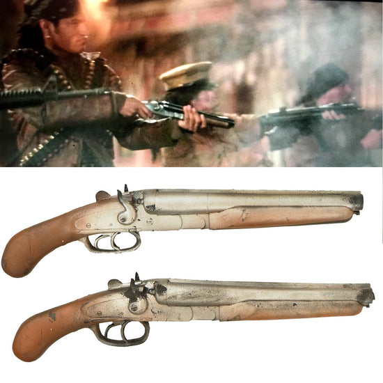 Original U.S. Rubber Film Prop Double Barrel Hammer Shotguns From Ellis Props and Graphics - As Used in Escape from LA Original Items