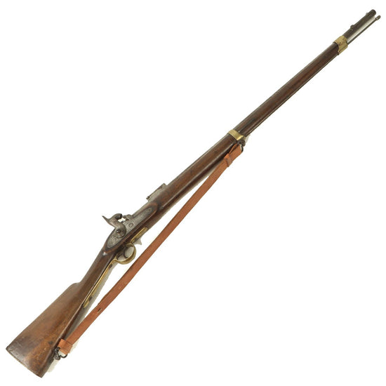 Original Sikh Marked British P-1853 Enfield Style Short Percussion Rifled Musket with Sling Original Items