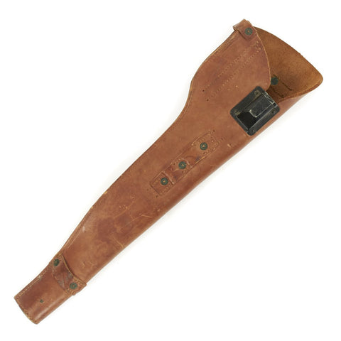 Original U.S. WWII 1943 Dated M1 Carbine Leather Scabbard by S. Froelich Company