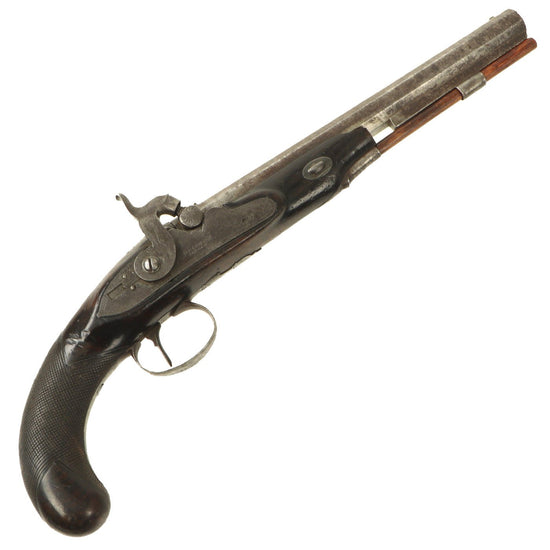 Original British Percussion Converted Flintlock Pistol by Grierson of London c. 1810 Original Items