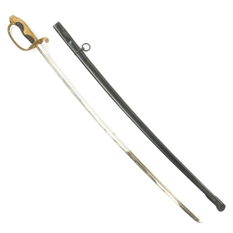 Original WWII Japanese Police Officer Nickel-Plated Parade Sword with Scabbard Original Items