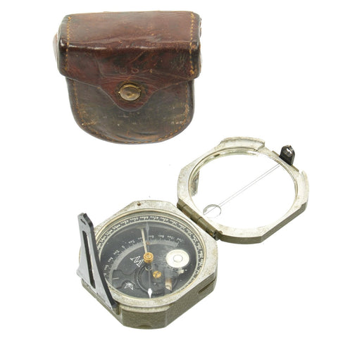 Original U.S. WWII M2 Artillery Compass with Leather Case