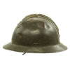 show larger image of product view 3 : Original WWII French M1926 Adrian Helmet without Badge - Olive Green Original Items