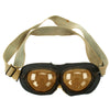 show larger image of product view 3 : Original German Luftwaffe Flight Goggles with Large Tinted Lenses Original Items