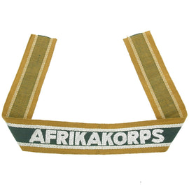 Original German WWII DAK Afrikakorps Cuff Title - Unissued