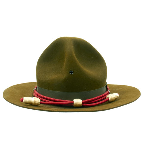 Original U.S. WWII Artillery Officer M1911 Campaign Hat in Excellent Condition Original Items
