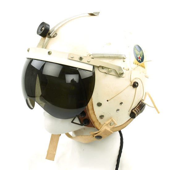 Original U.S. Air Force 1957 Gentex P-4A Flight Helmet with Control Stick