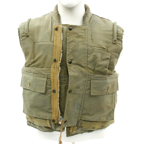 Original U.S. Vietnam War U.S.M.C. M-1955 Flak Body Armor Vest Original Items