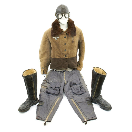 Original German WWII Luftwaffe Pilot Winter Flying Uniform Set with 1936 Dated Jacket