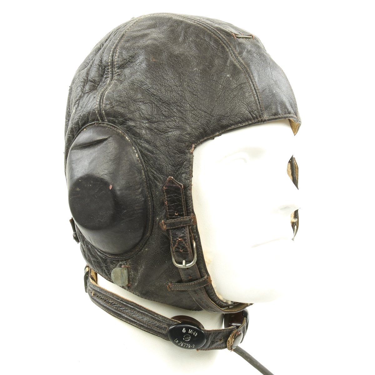 10acb6f7912 Tap to expand · Next · Original German WWII Luftwaffe Model LKPW101 Leather  Flying Helmet with Receiver and Microphone