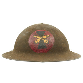 Original U.S. WWI M1917 7th Infantry Division Artillery Doughboy Helmet - Original Paint and Liner