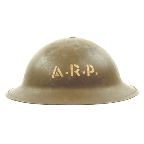 Original British WWII Air Raid Precautions A.R.P. Brodie Helmet by General Steel Wares of Toronto - dated 1942