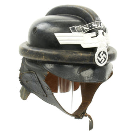 Original German WWII 2nd Pattern NSKK Crash Helmet marked RZM L6/1938 - Size 58