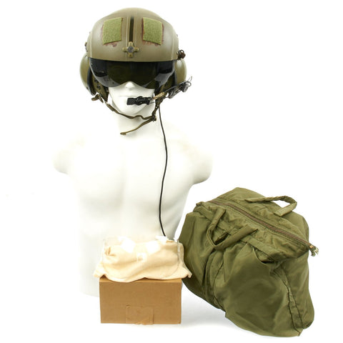 Original U.S. Vietnam War Named Helicopter Pilot Gentex SPH-4 Helmet with Bag