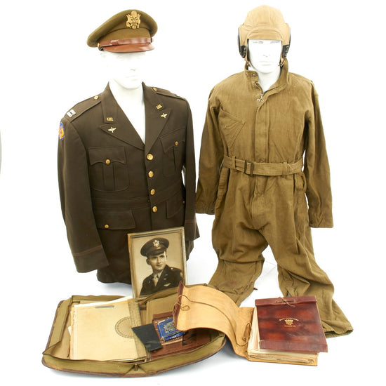 Original U.S. WWII B-17 Bombardier 533rd Bomb Squadron Named Uniform and Documents Grouping