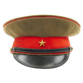 Original WWII Imperial Japanese Army Officer Visor Cap