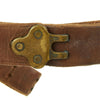 show larger image of product view 5 : Original U.S. WWII 1942-dated M1907 Pattern Leather Sling with Brass Fittings by BOYT Original Items