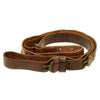 show larger image of product view 1 : Original U.S. WWII 1942-dated M1907 Pattern Leather Sling with Brass Fittings by BOYT Original Items