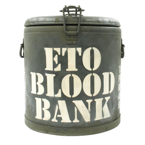 Original U.S. WWII ETO Blood Bank M-1941 Mermite Can by L.M.P - Dated 1942
