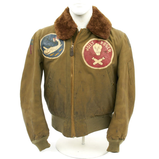Original U.S. WWII Jolly Rogers 90th Bomb Group Moby Dick 320th Bomb Squadron Named B-15 Jacket