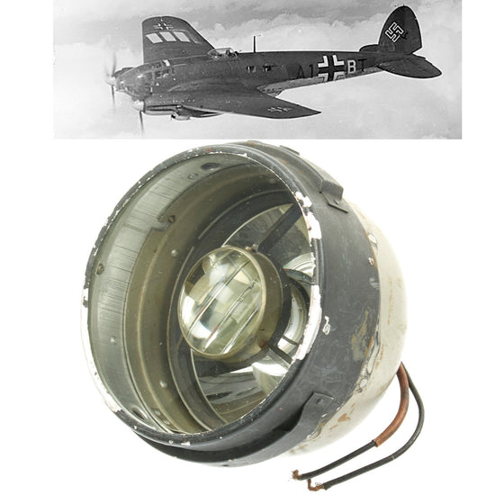 Original German WWII Heinkel HE 111 Aircraft Light Original Items