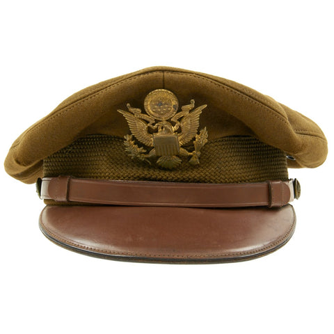 Original U.S. WWII USAAF Officer Dobbs of New York Crush Cap With Rear Chin Strap - Size 7 Original Items