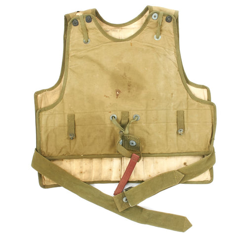 Original U.S. WWII USAAF Early Pattern M1 Flyers Protective Armor Flak Vest / Jacket Original Items