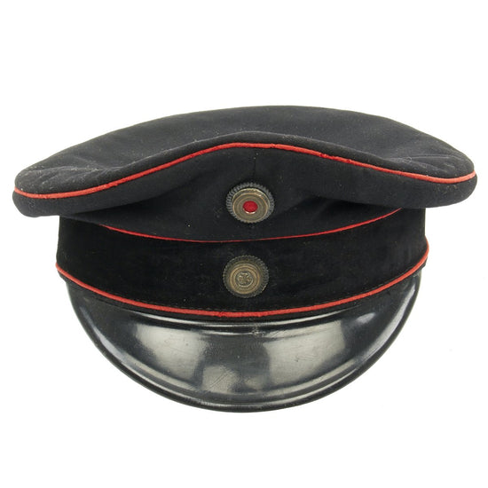 Original Imperial German Prussian WWI Motorized Troops Officer M1910 Visor Cap