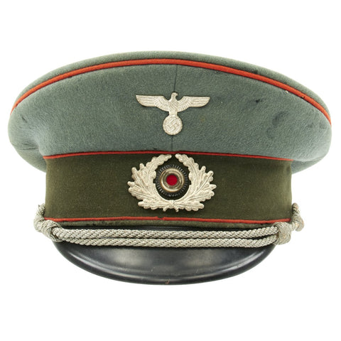 Original German WWII Early War Heer Artillery Officer Visor Cap - Extraklasse