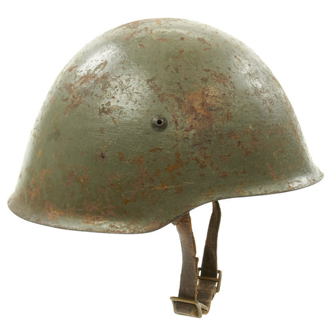 Original WWII Portuguese M40 Helmet Original Items