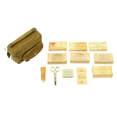 Original U.S. WWII Aeronautic First Aid Kit for B-17 & B-24 Bombers and C-47 Skytrain Original Items