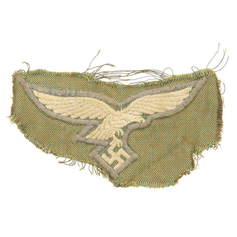 Original German WWII 1st Pattern Paratrooper Smock Luftwaffe Eagle Insignia Cut Out