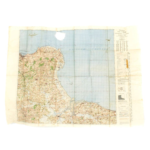 Original U.S. WWII D-Day Map of Normandy - Cherbourg and Valogres 1943