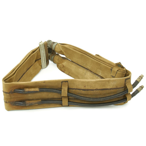 Original U.S. WWII M1926 D-Day Inflatable Flotation Belt Life Preserver by Eagle Rubber - Dated APR 4 1944 Original Items