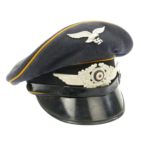 Original German WWII Luftwaffe Flight Branch Visor Cap