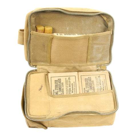 Original U.S. WWII Aeronautic First Aid Kit with Contents Original Items