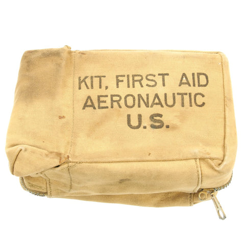 Original U.S. WWII Aeronautic First Aid Kit with Contents