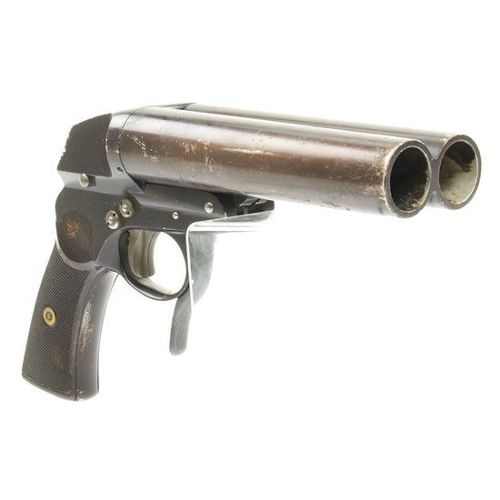 Original German WWII 1942 Luftwaffe Double Barrel Flare Pistol by Emil Eckoldt