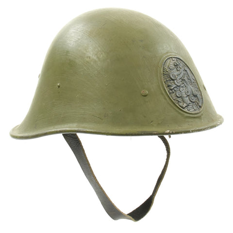 Original Dutch WWII Model 1934 Helmet with Helmet Plate - Excellent Condition New Made Items