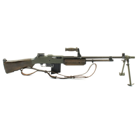 U.S. Browning 1918A2 BAR Replica Display Gun Constructed with Metal and Wood Original Items