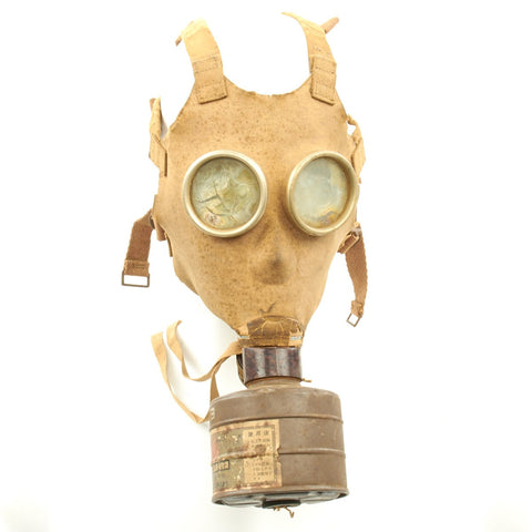 Original Japanese WWII Gas Mask with Filter Original Items