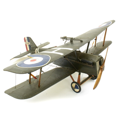 Original British WWI Royal Aircraft SE5 Large Scale Model Plane for 1927 Film Wings